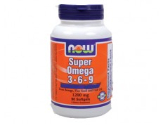 NOW Super Omega 3-6-9 1200mg - 90 perle.