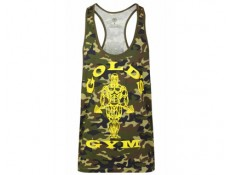 GOLD'S GYM - Tank/Canotta classica Camouflage Verde