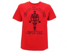 GG003 Gold's Gym T-Shirt Classic Rosso 100% cotone
