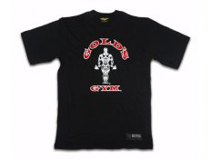 GG003 Gold's Gym T-Shirt Classic Nero 100% cotone