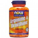 NOW -  Arginina + Ornitina 500/250 mg. - 100 cpr.