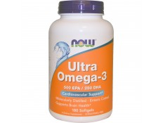 NOW Ultra OMEGA-3 Molecular Dist. 500/250 md ec - 180 perle.